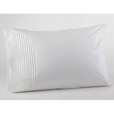Pin Tuck Percale Pillowcase Color: Alpine White, Size: Standard/Queen