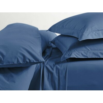 Percale 220 Thread Count Cotton Sheet Set Color: French Blue, Size: Twin