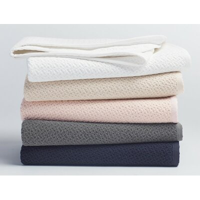 Honeycomb Cotton Blanket Color: White