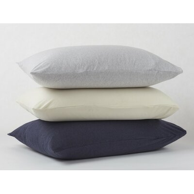 Jersey Envelope Pillow Case Size: King, Color: Gray Heather