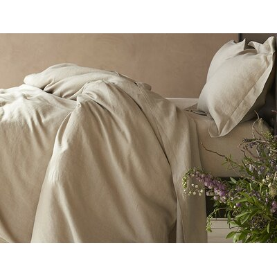 Relaxed Linen Pillowcase Color: Natural, Size: King