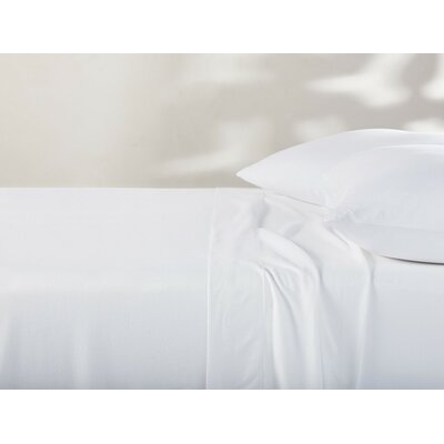 Jersey Cotton Sheet Set Color: Alpine White, Size: Queen