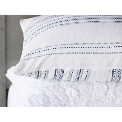 Geo Stripe Sham Size: Euro, Color: Deep Ocean/Mid Dusty Aqua