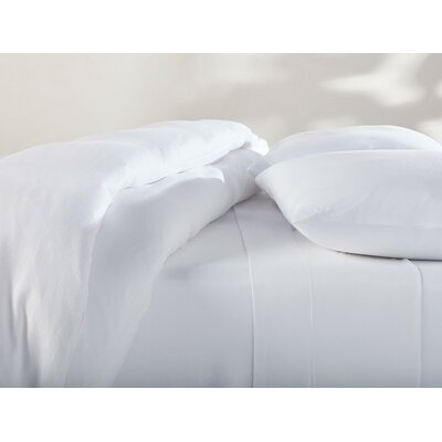 Jersey Duvet Cover Color: Alpine White, Size: Full/Queen