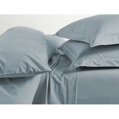 Percale Sham Size: Euro, Color: Pale Ocean