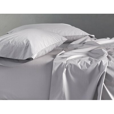 Percale 220 Thread Count Cotton Sheet Set Color: Deep Pewter, Size: Twin
