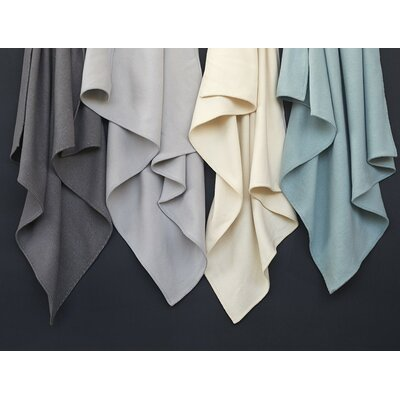 Carmel Washable Blanket Color: Pale Dusty Aqua, Size: Twin
