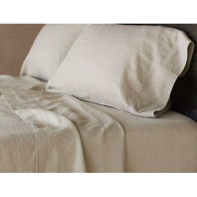 Relaxed Linen Sheet Set Color: Natural, Size: California King
