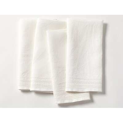 Eyelet Linen Napkin Color: Alpine White