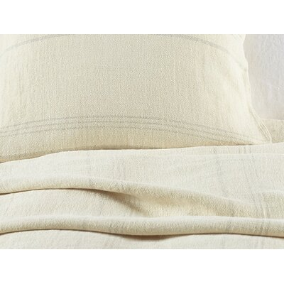 Larkspur Linen Coverlet Size: Full/Queen, Color: Wheat