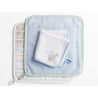 Muslin Wash Cloth Color: Whale