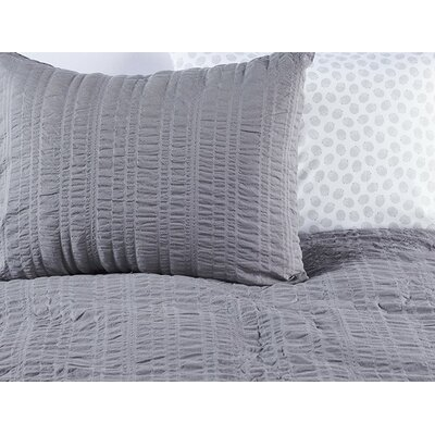 Seashore Cotton 2 Piece Duvet Set Color: Whale Gray