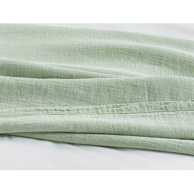 Larkspur Linen Coverlet Size: Full/Queen, Color: Sage