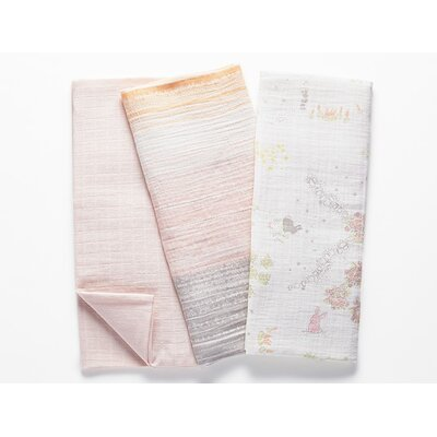 Muslin Swaddle Cotton Blanket Color: Pink