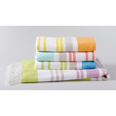 Sutro Stripe Washcloth Color: Slate/Misty Aqua