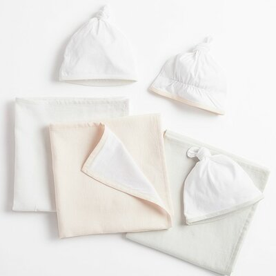 Jersey 6 Piece Blanket Set Color: Camellia
