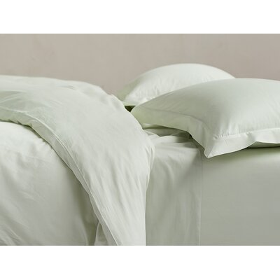 Sateen Duvet Cover Size: Twin, Color: Aloe