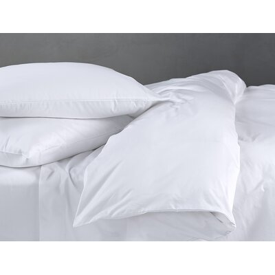 Sateen Duvet Cover Color: Alpine White, Size: King