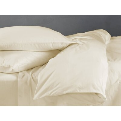 Supima Sateen 500 Thread Count Cotton Sheet Set Color: Natural, Size: Queen