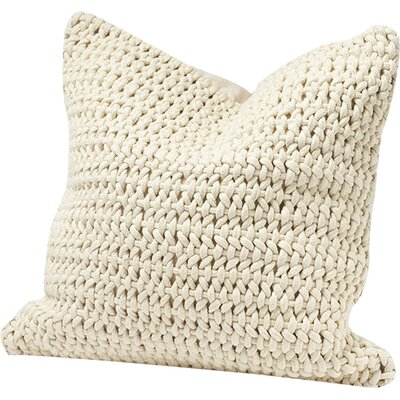 Woven Rope Cotton Pillow Cover Color: Natural