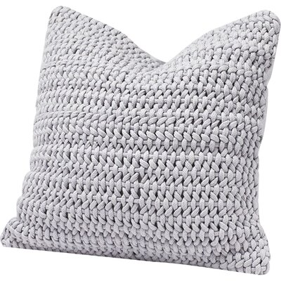 Woven Rope Cotton Pillow Cover Color: Pewter