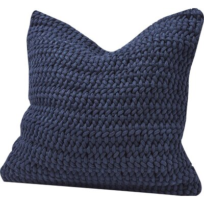 Woven Rope Cotton Pillow Cover Color: Indigo