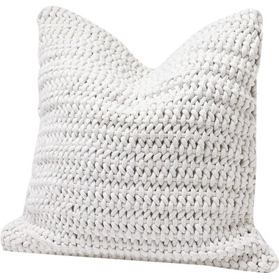 Woven Rope Cotton Pillow Cover Color: Alpine White