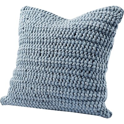 Woven Rope Cotton Pillow Cover Color: Pale Ocean