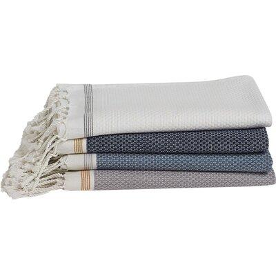 Mediterranean 6 Piece Towel Set Color: Azure/Mid Ocean