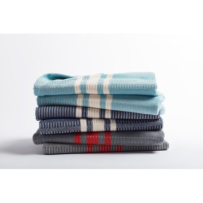 Cirrus Stripe Cotton Throw Color: Blue