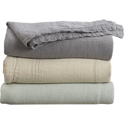 Larkspur Linen Coverlet Color: Mid Gray, Size: King