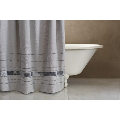 Rippled Stripe 100% Cotton Shower Curtain