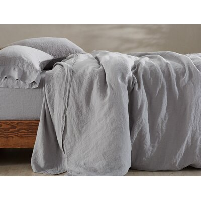 Relaxed 100% Linen Sheet Set Size: King, Color: Storm