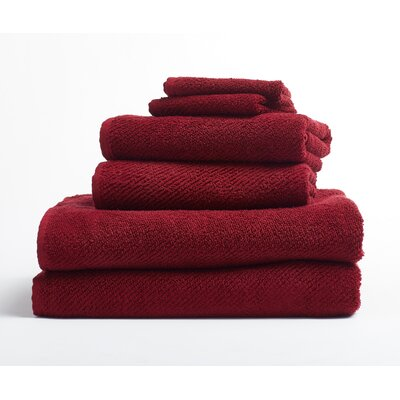 Air Weight 6 Piece Towel Set Color: Wine