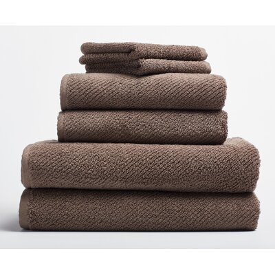 Air Weight 6 Piece Towel Set Color: Truffle