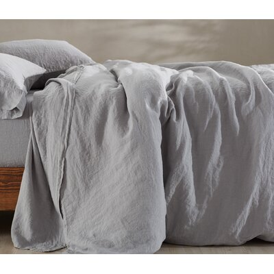 Relaxed Linen Duvet Cover Size: King, Color: Storm