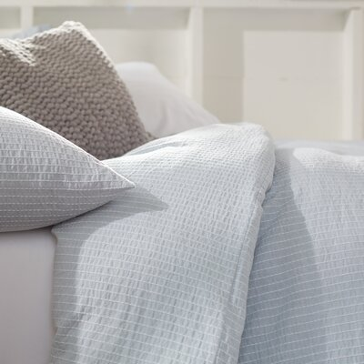 Sand Dune Duvet Cover Color: Sea Spray, Size: King