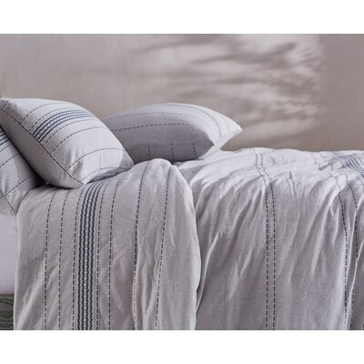 Rippled Stripe Duvet Cover Size: Full/Queen