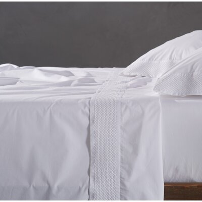 Lattice Pillowcase Size: King, Color: Alpine White