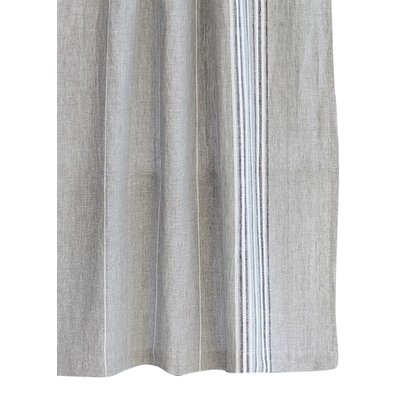 Rustic Linen Shower Curtain Color: Pewter/Deep Slate