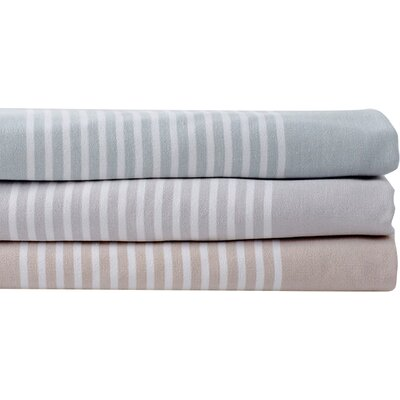 Sutro Stripe Bath Towel Color: Slate/Fog