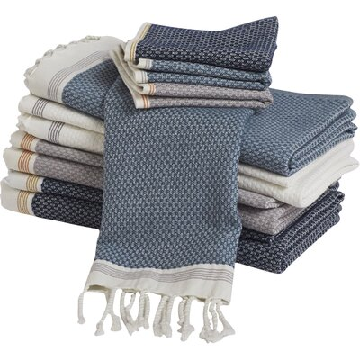Mediterranean Guest Bath Towel Color: Alpine White/Slate