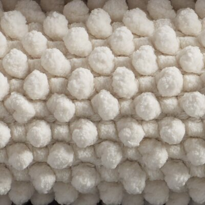 Pebbled Chenille Bath Rug Size: 24 W x 36 L, Color: Natural