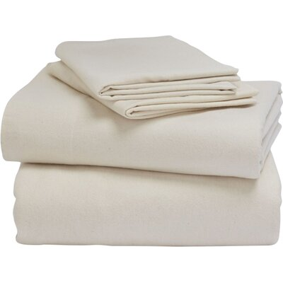 Cloud Brushed Flannel Cotton Sheet Set Size: Queen