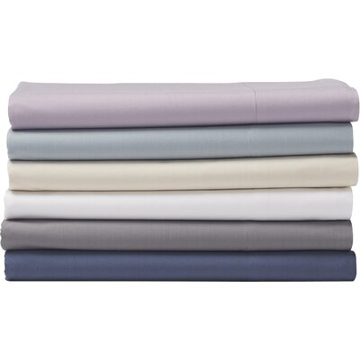 Percale Duvet Cover Color: French Blue, Size: King