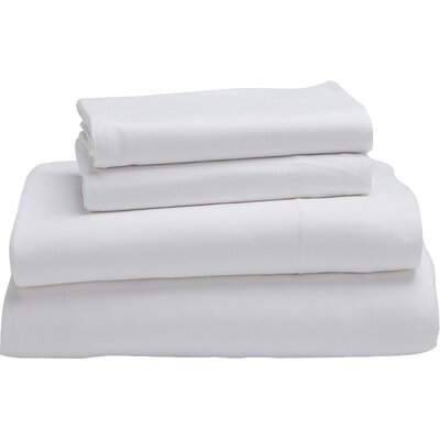 Jersey 100% Cotton Sheet Set Size: Full, Color: Alpine White