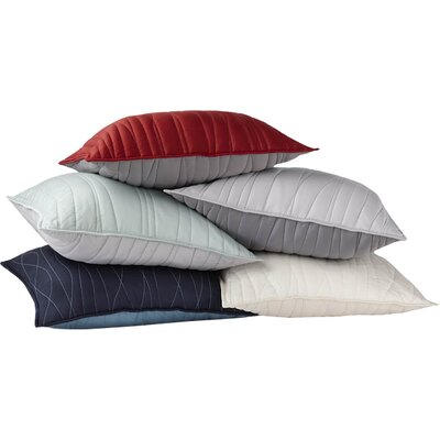 Sateen Reversible Wave Sham Size/Color: King/Natural
