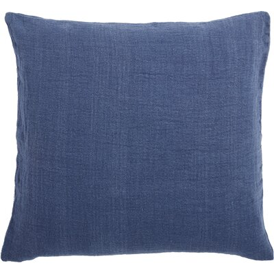 Larkspur Linen Pillow Cover Color: Sapphire