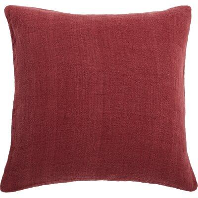 Larkspur Linen Pillow Cover Color: Garnet