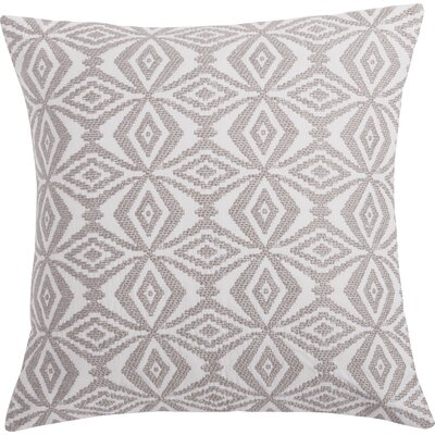 Kaleidoscope Embroidered Pillow Cover Color: Gray